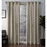Cheap Exclusive Home Winfield Heavyweight Metallic Sheen Treatment Basketweave Window Curtain Panel Pair with Grommet Top, 54×108, Gold, 2 Piece