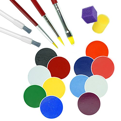 Face Paint Kit & Body Paint MADE IN USA Non-Toxic! Face Painting Kits Apply & Remove Effortlessly - Includes Glow In Dark Face Paint - Vibrant Colors For Adults & Kids - Halloween Costumes