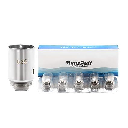YumaPuff Robin 50w 0.3ohm Resistencias Vaper Repuesto, Vaporizador Coil Bobina de Repuesto para Cigarrillo Electronico 5pz/Pack Sin Tabaco y Sin ...