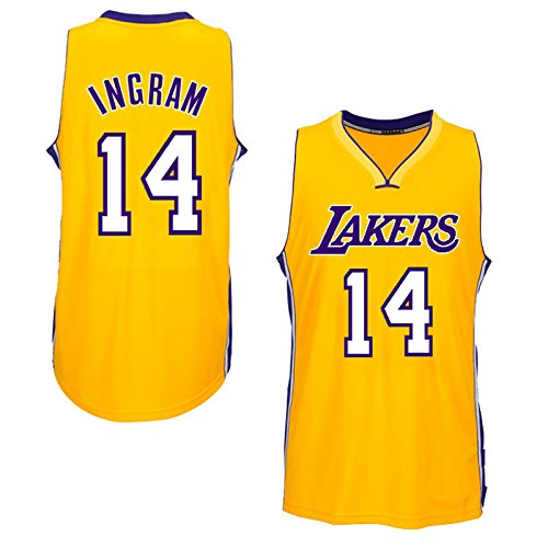 Mens LAKERS BRANDON INGRAM #14 Gold HOME JERSEY