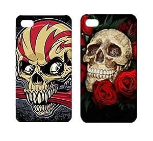 2 x Skull Art Hard Case for iPhone 4/4S