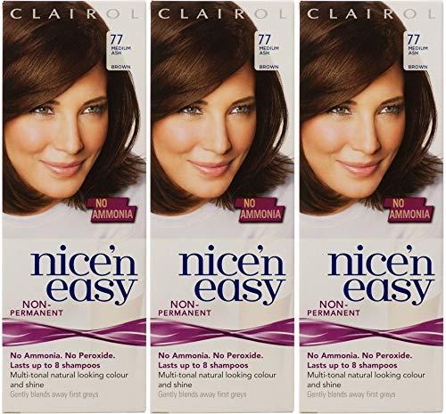 Clairol Nice n' Easy Hair Color #77, Medium Ash Brown UK Loving Care by Clairol