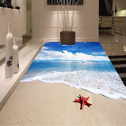 Sshssh Personalizados Pisos Pvc Beach 350x250cm El Para Baño Wallpaper Etiqueta Autoadhesiva Pintura 3d Starfish Mural 350x250cm Waves Mural Impermeable Suelo De rBrqxwn