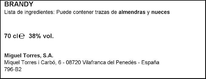 Torres 10 Imperial Brandy - 700 ml: Amazon.es: Alimentación y ...