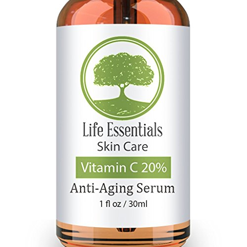 Vitamin C Serum for Face 20% - Hyaluronic Acid - Anti Wrinkle - Anti Aging Serum - Fades Dark Spots - Repairs Skin - Organic Ingredients - Seed Paper Ornament