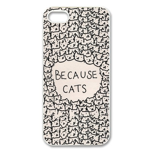 EVERMARKET(TM) Because Cats Animal Cat Cartoon Retro Vintage Funny Patterned Hard Back Case Cover Skin For iphone 6 (4.7)