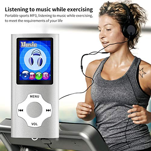 Mymahdi MP3/MP4 Portable Player,1.8 Inch LCD Screen,Max Support 64GB,Silver