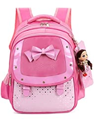 HGDGears Cute Kids Backpack Child Primary School Book Bags For Girls Students