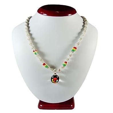 Rasta glass mushroom pendant on twisted hemp 18 inch necklace rasta glass mushroom pendant on twisted hemp 18 inch necklace aloadofball Images