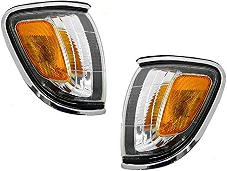 corner lighting japanese style toyota tacoma 01 02 03 04 corner light chrome trim with bulb pair set amazoncom