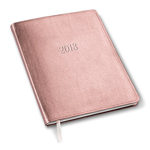 2018 Large Monthly Planner Metallic Rose Gold 9.75