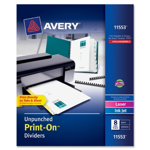AVE11553 - Avery Print-On Dividers