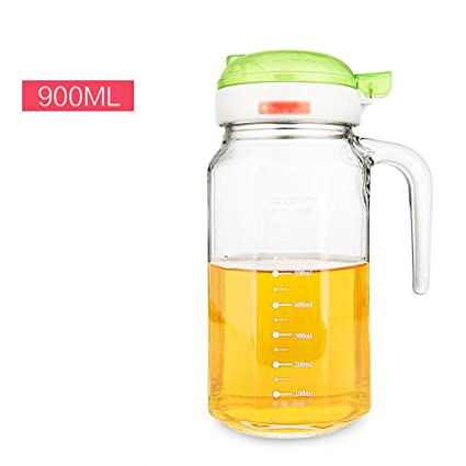 Glass Oil Bottle Leakage Sauce Bottle Vinegar Set Kitchen