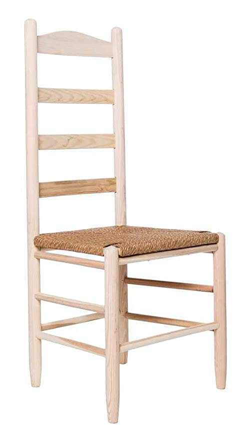 Dixie Seating Company 644777 Ladder Back Chair With Woven Seat