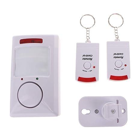 Manyo Perro electrónico Infrarrojos, Detector de Movimiento portátil 105dB PIR, Detector de Movimiento por