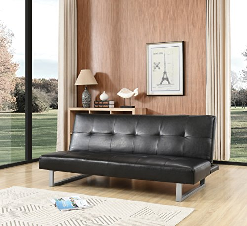 Amazon.com: Glory Furniture G116-S Futon Sofa Bed Black ...