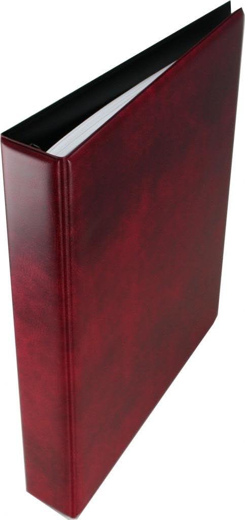 Red Sarum 4-ring A4 binder