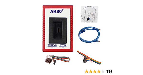 Carrfan Auto Key Programmer Tool, Professional AK90+ V3.19 Match Diagnostic Tool for BMW EWS AK90 with Cable Key Programming Kit Identifying Keys