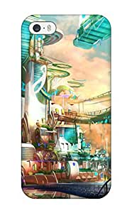 Defender Case For Iphone 5/5s, City Fantasy Abstract Fantasy Pattern