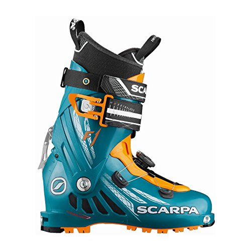 Scarpa F1 Ski Boot 2016 - Men's Petrol Blue/Orange 26.5
