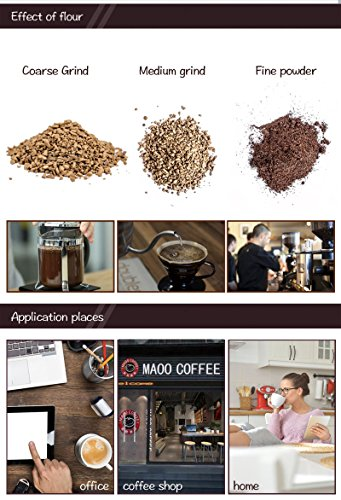 Chef Essentials Commercial coffee grinder Single origin pour coffee bean coffee bean machine Small round bladed disc (800A) by CHEF ESSENTIALS (Image #3)