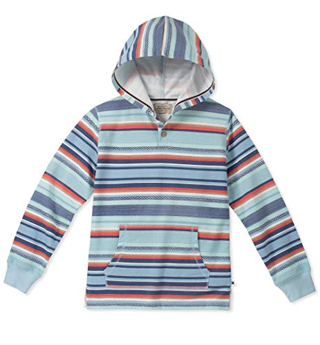 Lucky Brand Little Boys' Long Sleeve Pullover Hoody, Striped Cerulean 6 (Lucky Long Sleeve Pullover)