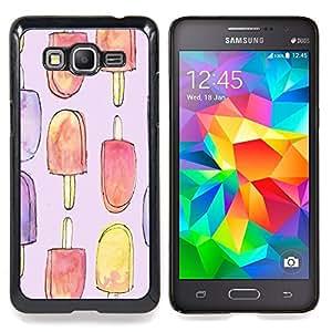 Eason Shop / Premium SLIM PC / Aliminium Casa Carcasa Funda Case Bandera Cover - Crema dulce de verano Arte - For Samsung Galaxy Grand Prime G530H / DS