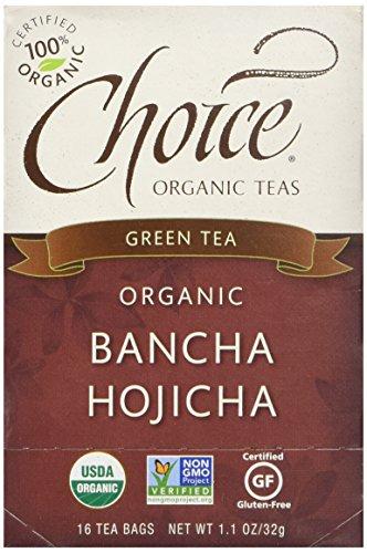 - Choice Organic Bancha Hojicha Roasted Japanese Green Tea, 16 Count