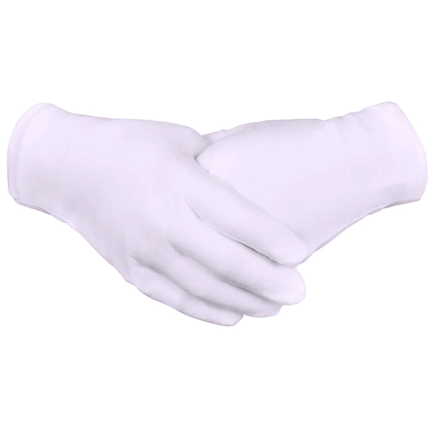 Zealor 12 Pairs Cotton Gloves Thickened Stretchable Lining Glove, Coin Jewelry Silver Inspection Gloves, Medium Size