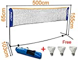 SoBuy Height Adjustable Tennis Nets, Badminton Net,with stand / frame,includes Fastening Devices, SFN03,Lengthen:196.8inch
