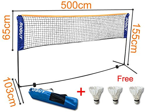 SoBuy Height Adjustable Tennis Nets