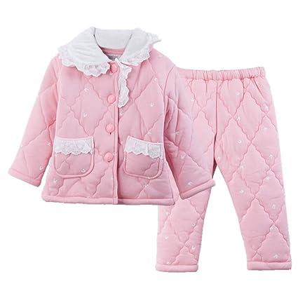 b3c6c5144 OPPP Pijamas de niños Niños Acolchados Pijamas niñas Coral Terciopelo  Invierno Engrosamiento niño Grande niña Franela