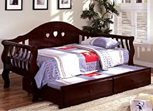 Amazon Com Inland Empire Furniture Charlotte Dark Cherry