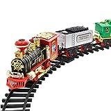 Binmer(TM) Remote Control Conveyance Car Electric Steam Smoke RC Train Set Model Toy Gift (A)