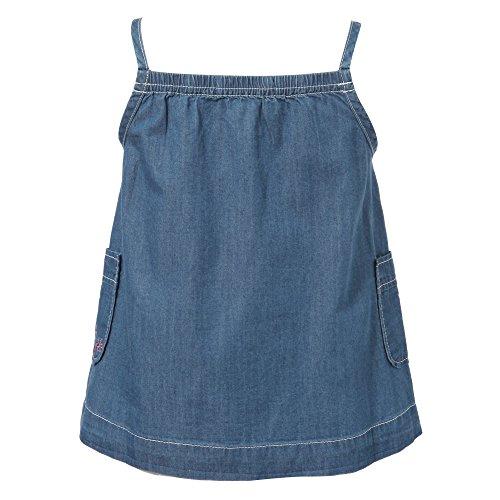 Richie House Little Girls' Denim Dress with Flower Embroidery RH1686-1/2-FBA