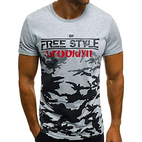 Camiseta para Hombre, YpingLonk Moda EstampadaT-Shirt Suave y ...