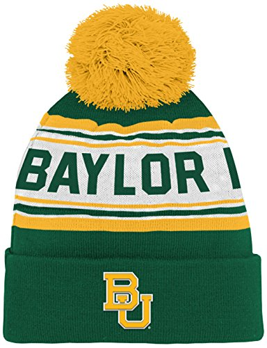 - NCAA by Outerstuff NCAA Baylor Bears Kids & Youth Boys Jacquard Cuffed Knit Hat w/ Pom, Dark Green, Youth One Size