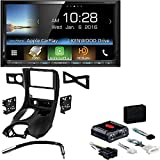 Kenwood DDX9703S 2 DIN DVD/CD Player 6.95 LCD Android iPhone HD Radio Bluetooth Metra DP-3021B Black Double DIN Stereo Dash Kit for 1997-2004 Chevrolet Corvette
