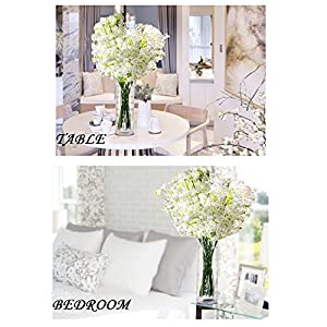 12pcs Artificial flowers Gypsophila Baby's Breath Bouquet Silk Baby Breath Flowers for Home Wedding Party Decorations Pretty Flowers 3