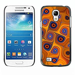 Be Good Phone Accessory // Dura Cáscara cubierta Protectora Caso Carcasa Funda de Protección para Samsung Galaxy S4 Mini i9190 MINI VERSION! // Orange Swirls