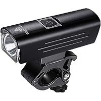 BESPORTBLE Farol de bicicleta recarregável por USB, farol frontal, lanterna de segurança para andar de bicicleta MTB…