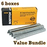 Value Pack of 6 boxes Stanley Bostitch B8 PowerCrown Premium 1/4'' Staples (STCRP21151/4)