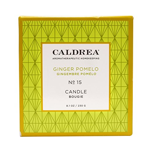Caldrea Ginger Pomelo Scented Candle 8.1 - Caldrea Candle