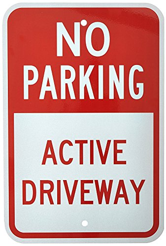 Parking Signs Personalized No (Poieloi No Parking Active Driveway Metal Road Sign 12