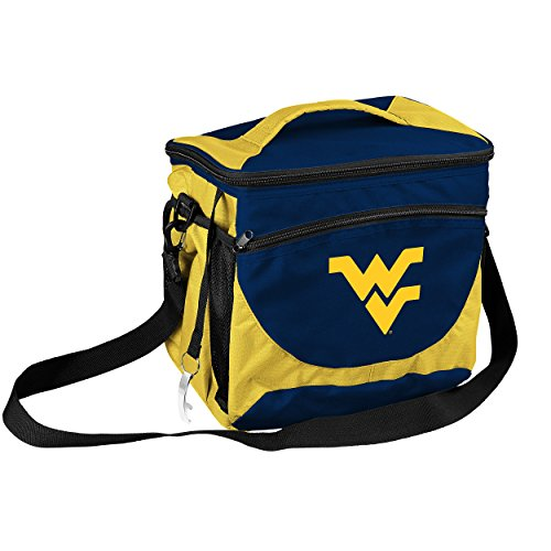 West Virginia Mountaineers Bag (Logo Brands Collegiate 24-Can Cooler with Bottle Opener and Front Dry Storage Pocket West Virginia 24 Can Cooler)