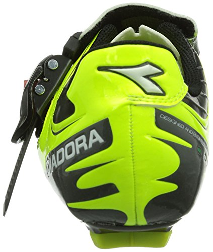 Diadora TORNADO - Zapatillas de ciclismo de material sintético para mujer amarillo - Gelb (schwarz/gelb fluo/weiß 3444)