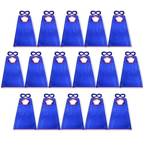 D.Q.Z Super Hero Capes and Masks for Kids Bulk Dress Up Party-16 Pack -