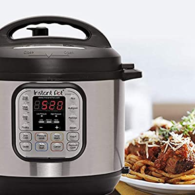 Instant Pot DUO60 7-in-1 Multi-Use Programmable Pressure Cooker, Slow Cooker, Rice Cooker, Steamer, Sauté, Yogurt Maker and Warmer