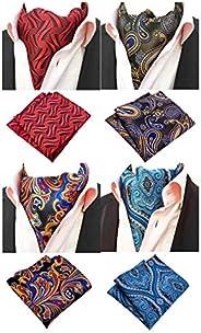 MOHSLEE Men's Exquisite 4 Pack Cravat Floral Ascot Scarf Tie & Pocket Sq