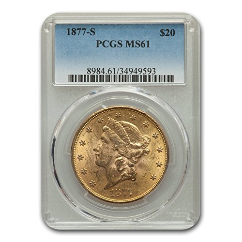 1877 S $20 Liberty Gold Double Eagle MS-61 PCGS G$20 MS-61 PCGS